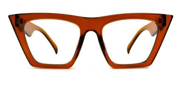 9522 Bella Belle Cateye brown glasses