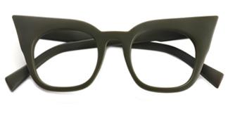 95231 Sabina Cateye green glasses