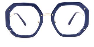 95243 Shanna Geometric blue glasses
