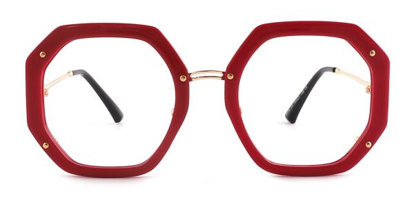 95243 Shanna Geometric red glasses