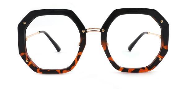 95243 Shanna Geometric tortoiseshell glasses