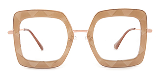95255 Teresa Geometric yellow glasses