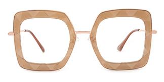 95255 Teresa Geometric yellow glasses