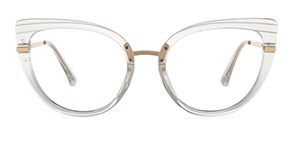 95282 Cadence Cateye clear glasses