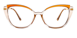 95285 Chandrika Cateye brown glasses