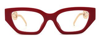 95307 Celina Cateye red glasses