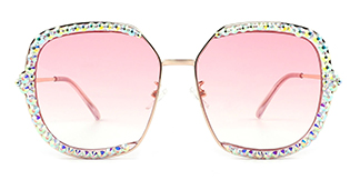 95542 Brianna Rectangle pink glasses