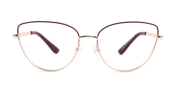 95553 Cassidy Cateye brown glasses