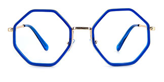 95562 Katrina Geometric blue glasses