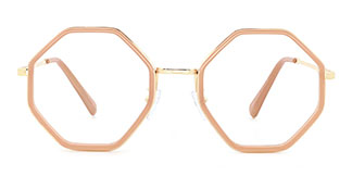 95562 Katrina Geometric brown glasses