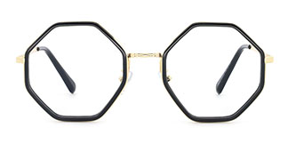 95562 Katrina Geometric black glasses