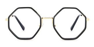95562 Katrina Geometric black glasses