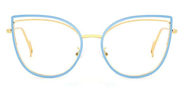 95597 Ondine Cateye blue glasses