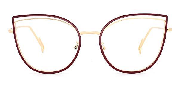 95597 Ondine Cateye red glasses