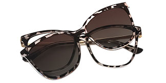 95655 AmiAmie Rectangle tortoiseshell glasses