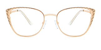 95667 Birgitta Cateye gold glasses