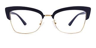 95711 Hadenna Cateye blue glasses