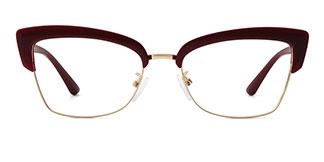 95711 Hadenna Cateye red glasses