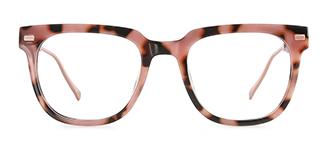 95837 Amberann Rectangle pink glasses