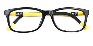 959 Amber Rectangle yellow glasses