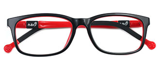 959 Amber Rectangle red glasses