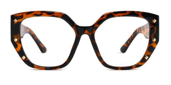 9619 Amira Geometric tortoiseshell glasses