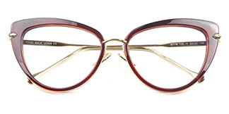 97068-1 Marguerite Cateye brown glasses