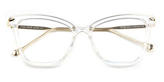 97152-1 Aaliyah Cateye,Rectangle,Butterfly clear glasses