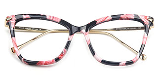97152 Aldis Cateye,Rectangle,Butterfly floral glasses