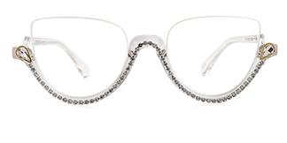971741 Bridget Cateye clear glasses