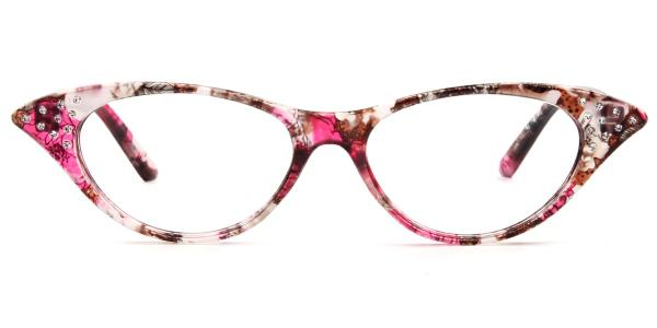 9721 Valerie Cateye floral glasses