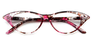 9721 Valerie Cateye,Oval floral glasses