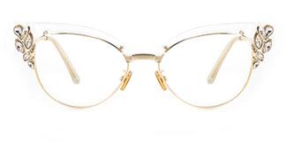 97329 Moana Cateye clear glasses