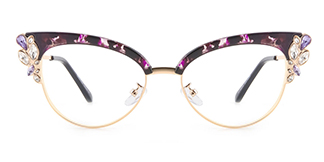 97329 Moana Cateye purple glasses