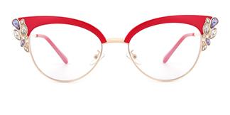 97329 Moana Cateye red glasses