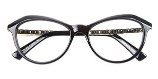 97530 Angelou Cateye,Oval,Butterfly white glasses