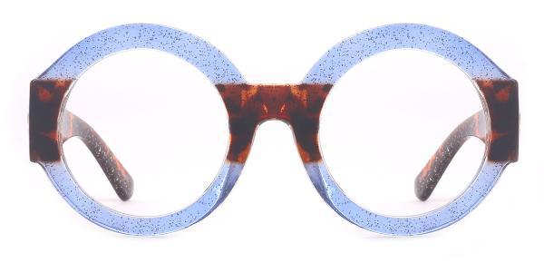 97558 Rozz Round blue glasses