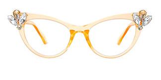 97563 Bessie Cateye orange glasses