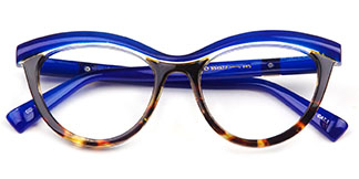 97565 Madison Cateye,Oval blue glasses