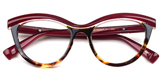 97565 Madison Cateye,Oval red glasses