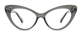 97568 Rogers Cateye grey glasses