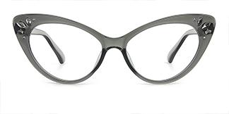 97568 Rogers Cateye grey glasses