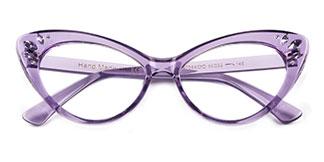 97568 Rogers Cateye purple glasses
