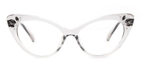 97568 Rogers Cateye white glasses