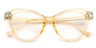 97569 Burke Cateye,Butterfly gold glasses