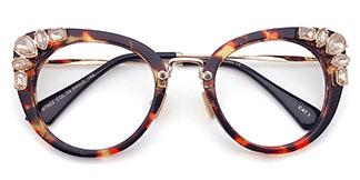 97602 Lahela Cateye,Round tortoiseshell glasses