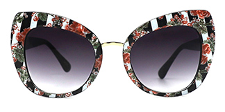 97656-1 Magda Cateye floral glasses