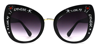 97656-1 Magda Cateye black glasses