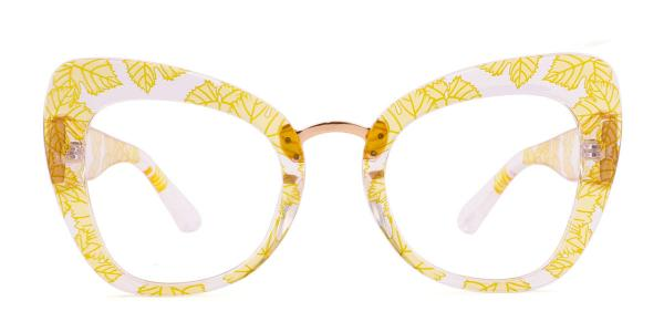 97672 Yanessa Cateye yellow glasses