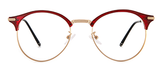 98003 Alyce Round red glasses